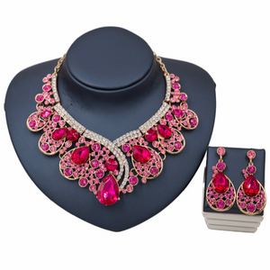 La Mia Cara Jewelry - Sita Devi 2 -Magical Maharani Jewels - Crystal Necklace & Earrings Set