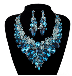 La Mia Cara Jewelry - Sita Devi 5 -Magical Maharani Jewels - Crystal Necklace & Earrings Set