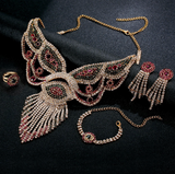 La Mia Cara Jewelry - Sita Devi 8 -Magical Maharani Jewels - Crystal Necklace & Earrings Set