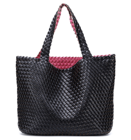 La Mia Cara - Bibiane Black &Pink - Large Capacity Casual Turn Bag