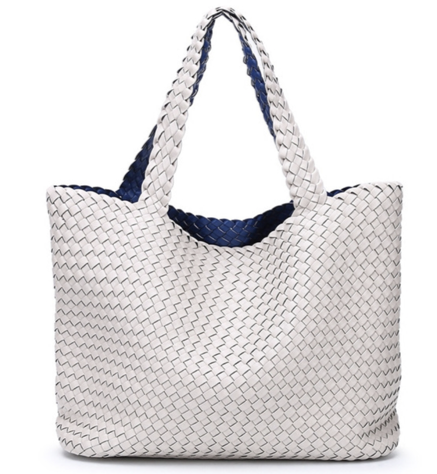 La Mia Cara - Bibiane Ivory & Blue - Large Capacity Casual Turn Bag