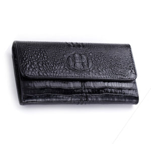 La Mia Cara  - Janina - Luxury Crocodile Genuine Smooth Shiny Leather Wallet Purse