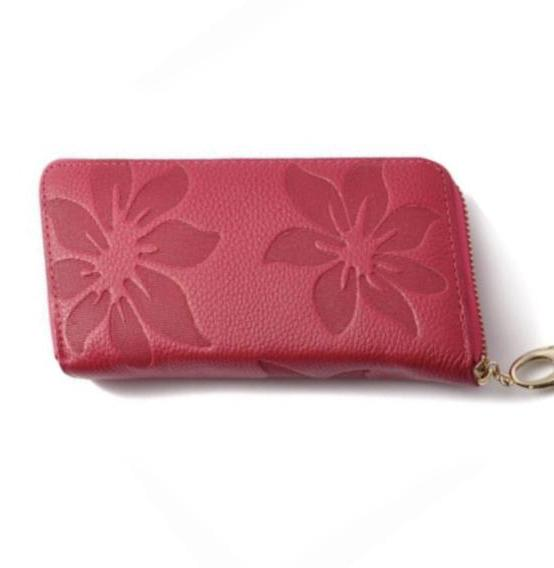 La Mia Cara  - Joya - Flower Print Genuine Leather Clutch Wallet Purse