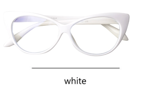 La Mia Cara - Presbyopic Berlin White Cat Eye Anti Blue Light Reading Glasses