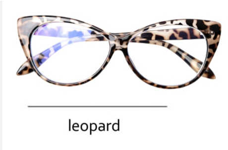 La Mia Cara - Presbyopic Berlin Leopard - Cat Eye Anti Blue Light Reading Glasses
