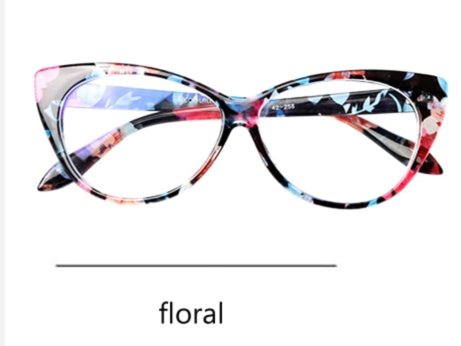 La Mia Cara - Presbyopic Berlin Floral Cat Eye Anti Blue Light Reading Glasses