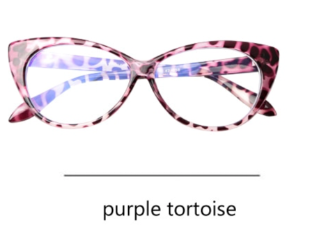 La Mia Cara - Presbyopic Berlin Leopard Purple- Cat Eye Anti Blue Light Reading Glassespurple
