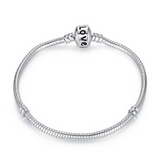 Sempre - Basic Silver Charm Bangle - LA MIA CARA JEWELRY - 2
