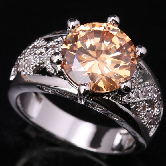 La Mia Cara Jewelry - Ciro - Orange Topaz Ring in 925 Sterling Silver