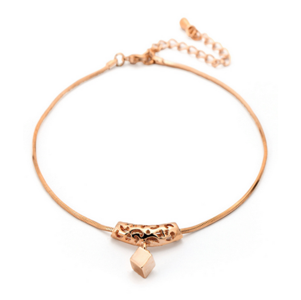 Sucre d'Orge - Swarovski Crystal Rose Gold Anklet - LA MIA CARA JEWELRY