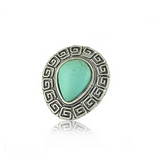 La Mia Cara Jewelry & Accessories - Turchese - Antique Silver Ring Natural Turquoise Cocktail Ring