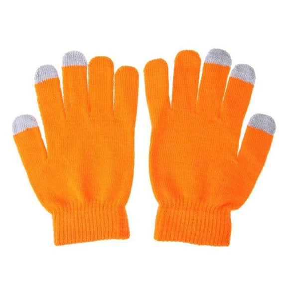 LA MIA CARA  -  Knity Orange - Female Gloves for Touch Screen