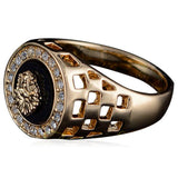 La Mia Cara Jewelry & Accessories - Versace - Signe Crystal Gold Ring - Men's Jewelry