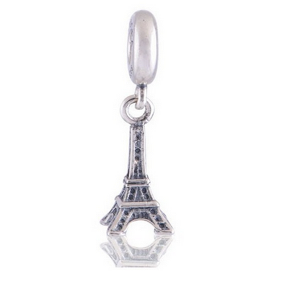 La Mia Cara Jewelry - Viaggi Charm Torre Eiffel - Eiffel Tower  Travel Beads fit Pandora