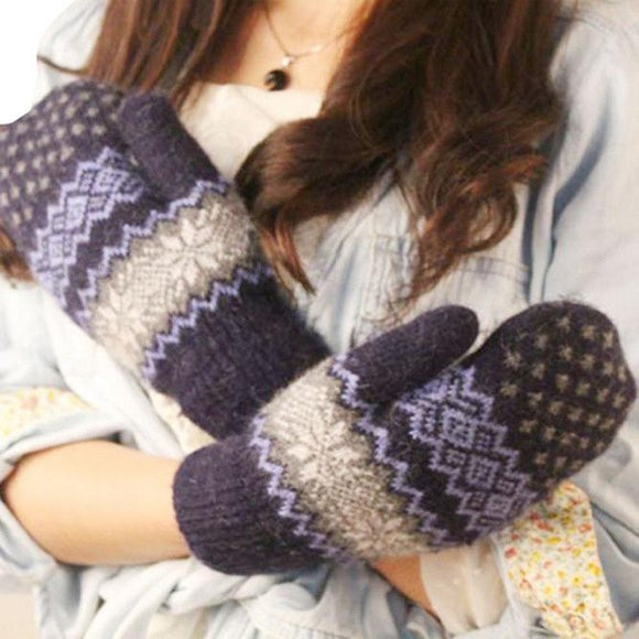 LA MIA CARA  -  Norway Navy - Cashmere Female Gloves