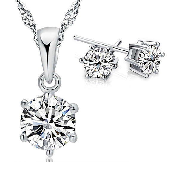 La Mia Cara Jewelry  - Piccolo- Shinning CZ Diamond Jewelry Set