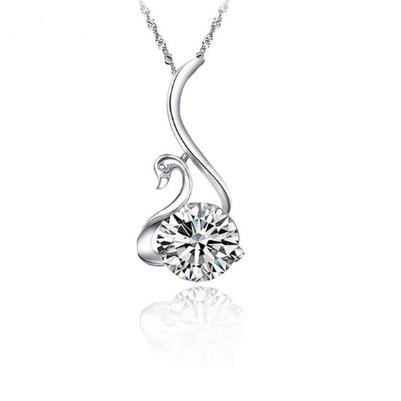 La Mia Cara Jewelry  - EMELI - Swan CZ Diamond Pendant Necklace