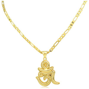 Yogini - Om Pendant Gold Chain Necklace - LA MIA CARA JEWELRY