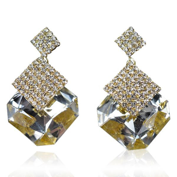Zarah - Rhinestone Crystal Water Drop Earrings - LA MIA CARA JEWELRY - 2