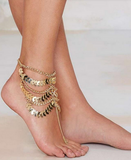 Zingaro - Multilayer Barefoot Coin Ankle - LA MIA CARA JEWELRY - 3