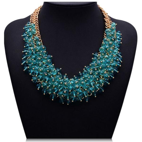 Zita - Colorful Acryl Crystals Collar Statement Necklace - LA MIA CARA JEWELRY - 2