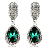 Zita - Rhinestone Crystal Water Drop Earrings - LA MIA CARA JEWELRY - 4