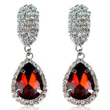Zita - Rhinestone Crystal Water Drop Earrings - LA MIA CARA JEWELRY - 1
