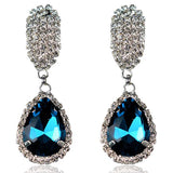 Zita - Rhinestone Crystal Water Drop Earrings - LA MIA CARA JEWELRY - 2