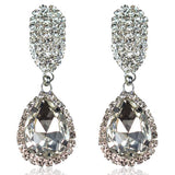 Zita - Rhinestone Crystal Water Drop Earrings - LA MIA CARA JEWELRY - 3