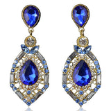 Zölestine - Rhinestone Crystal Water Drop Earrings - LA MIA CARA JEWELRY - 1