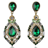Zölestine - Rhinestone Crystal Water Drop Earrings - LA MIA CARA JEWELRY - 2