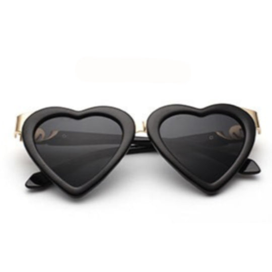 La Mia Cara - BALI - BLACK HEART SHAPE CAT EYE - WOMEN'S OVERSIZED SUNGLASSES
