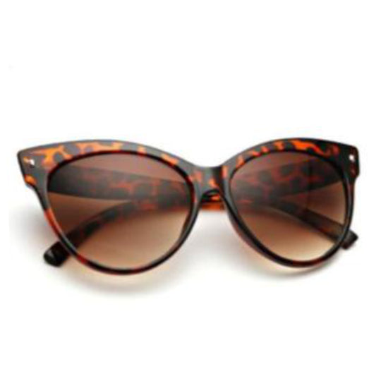 La Mia Cara Jewelry & Accessories - Amsterdam Leopard -Vintage Oversized Circle Cat Eye Women Sunglasses