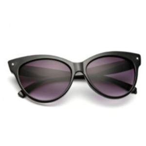 La Mia Cara Jewelry & Accessories - Amsterdam Black - Vintage Oversized Circle Cat Eye Women Sunglasses