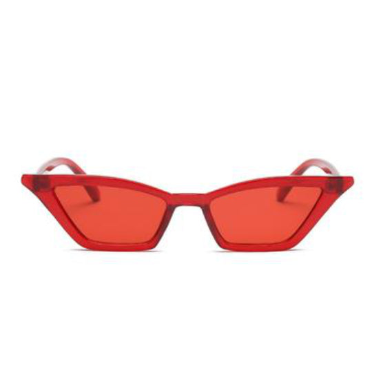 LA MIA CARA - COCO  RED - ELEGANT 50S VINTAGE WOMENS FASHION CAT EYE SUNGLASSES