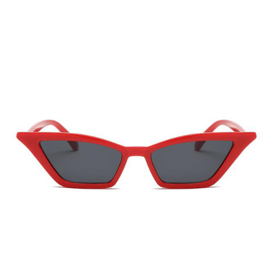 LA MIA CARA - COCO  RED - BLACK - ELEGANT 50S VINTAGE WOMENS FASHION CAT EYE SUNGLASSES