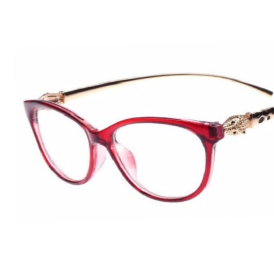 La Mia Cara  - Firenze Red - Cat Eye Elegant Golden Leopard Frame Reading Glasses