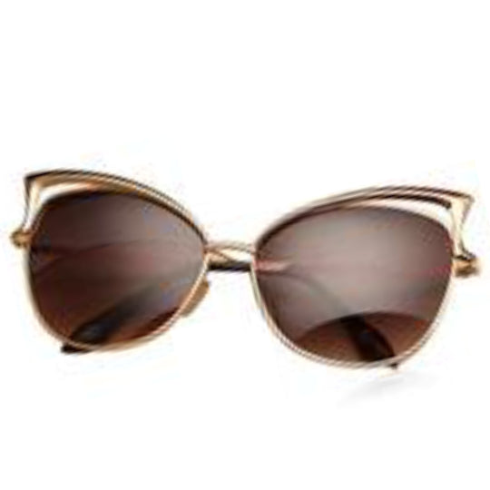 La Mia Cara - Melbourne Brown - Classic Vintage Mirror Retro Cat Eye Sunglasses