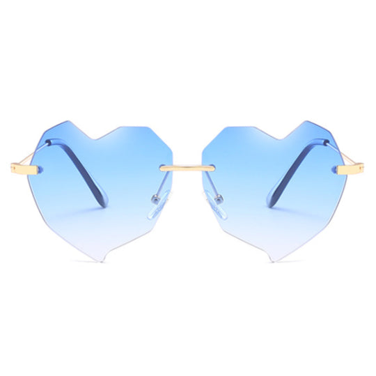 LA MIA CARA - SINGAPORE - BLUE HEART SHAPE CAT EYE - WOMEN'S OVERSIZED SUNGLASSES