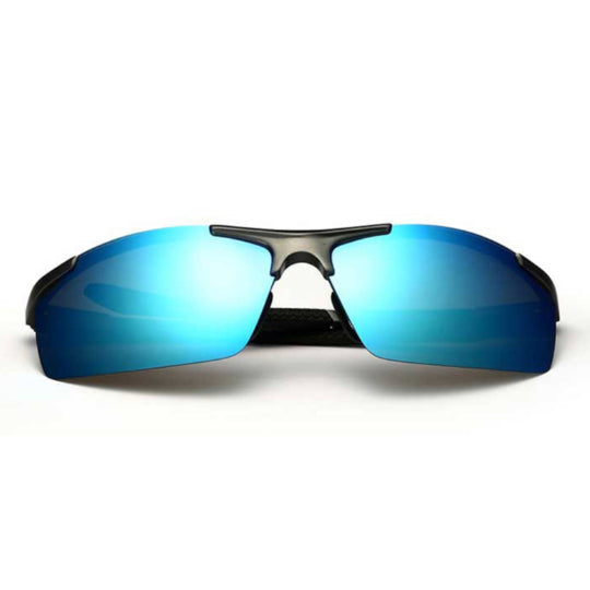 La Mia Cara  - Monaco Blue - Classic Aluminum Mirror Driving Sun Glasses for Men