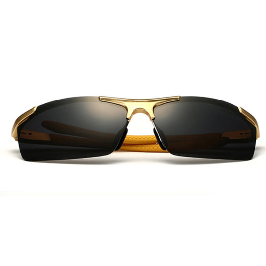 La Mia Cara  - Monaco Gold - Classic Aluminum Mirror Driving Sun Glasses for Men