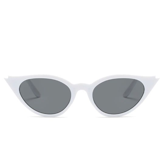 La Mia Cara Jewelry & Accessories - Rio de Janeiro - White Cat Eye Retro Small Triangle Vintage Sun Glasses UV400