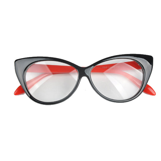 La Mia Cara - Black Red Berlin - Spectacle Cat Eye Optical Glasses