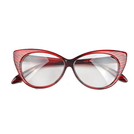La Mia Cara - Bright Red Berlin - Spectacle Cat Eye Optical Glasses