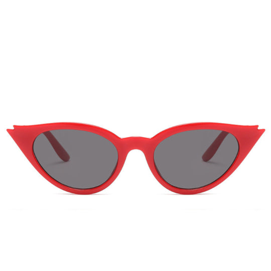La Mia Cara Jewelry & Accessories - Rio de Janeiro - Red Cat Eye Retro Small Triangle Vintage Sun Glasses UV400