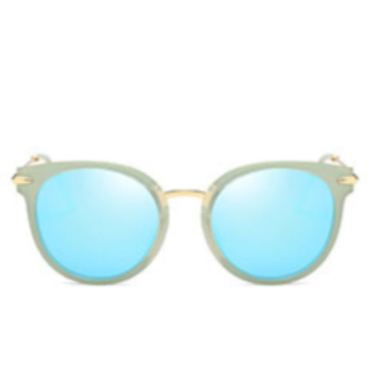 La Mia Cara - Verona - Blue Oversize Flat Infinitive Polarized Lens Cat Eye Sunglasses