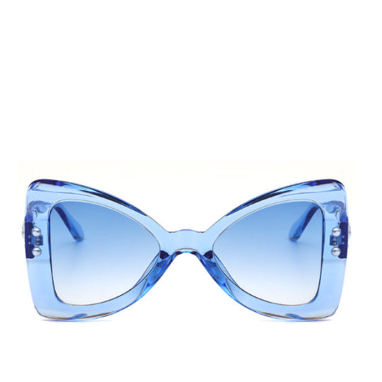 LA MIA CARA - FERRARA - BLUE SUPER FUN OVERSIZE BOW TIE SUNGLASSES