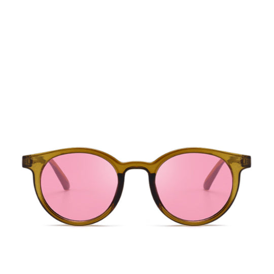 La Mia Cara  - MODENA - BROWN/PINK RETRO 1950'S FESTIVAL COLORFUL PANTONE TRANSLUCENT SUNGLAS