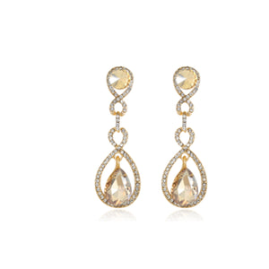 Bonfilia - Vintage Crystal  Drop Earrings