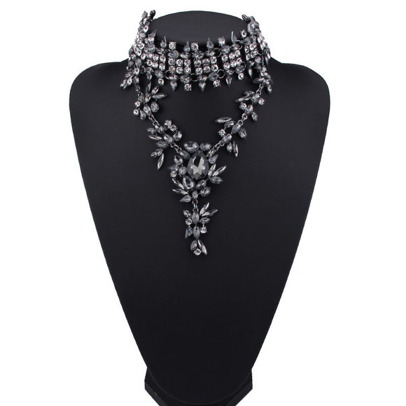 La Mia Cara Jewelry & Accessories -  Arabesque- Luxury Crystal Chokers Statement Necklace Women